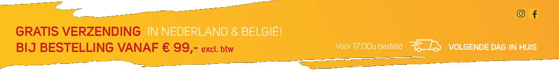 Verzendkosten Nederland en België