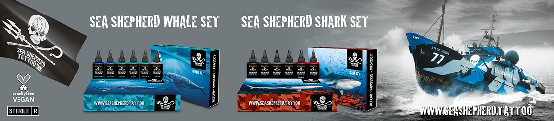 Sea Shepherd - Vegan Tattoo Inkt