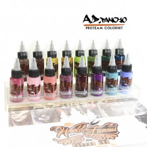 World Famous Ink - A.D. Pancho Pro Team Colour Set - 16 x 30 ml