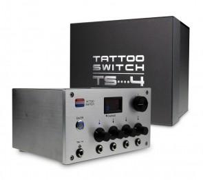 Tattoo Switch Voeding Met 4 Uitgangen - (TS4 Zilver)