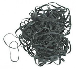 Black Rubber Bands - Verpakking van 100