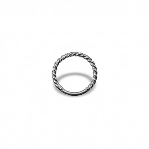 (10) Segment Ring Clicker Twisted Wire - Edelstaal - Dikte 1,2 mm / Ø 10 mm
