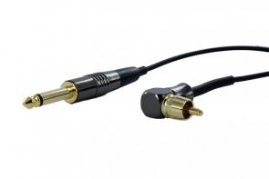 Crystal Coax Kabel - RCA Haaks - Zwart
