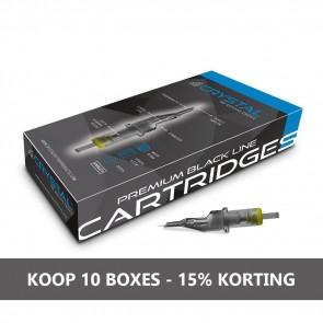 Crystal Premium Cartridges - Round Liners - Doos van 20