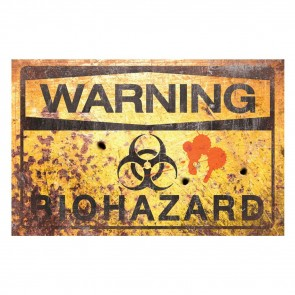 Warning Bio Hazard Sign - 43 cm
