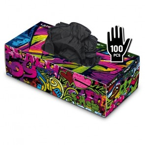 Graffiti Gloves - Latex - Zwart - Doos van 100