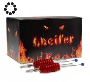 Lucifer Grips met Naalden - 25 mm Rubber Grip - Round Shaders - Doos van 20