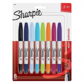 Sharpie - Fine & Ultra Fine Dual Point Set - Verpakking van 8