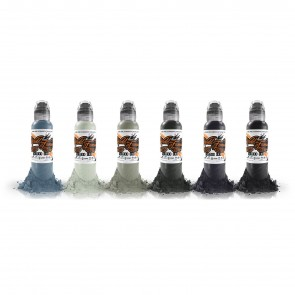 World Famous Ink - Poch's Muted Storms Set - 6 x 30 ml