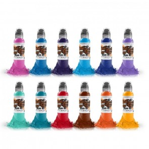 World Famous Ink - Primary Colour Set #2 - 12 x 30 ml