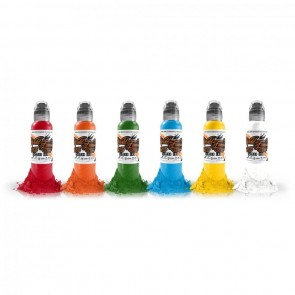 World Famous Ink - Simple 6 Colour Set - 6 x 30 ml