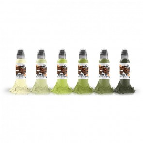 World Famous Ink - Vincent's Rotten Greens Set - 6 x 30 ml