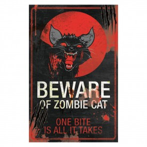Zombie Cat Sign - 43 cm
