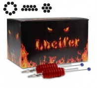 Lucifer Grips with Needles - 19 mm Rubber Grip - All Configurations - Box of 25