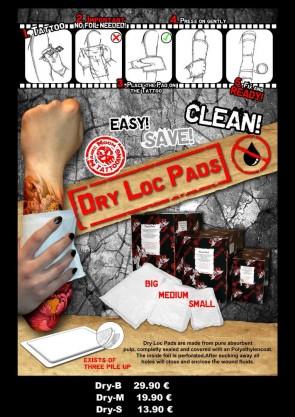 Dry Loc Pads - Big - 222 x 175 mm - Box of 200