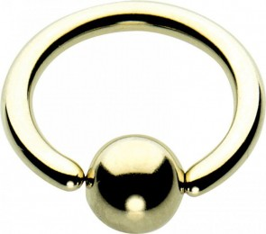 Aztec Gold Titanium BCR with Titanium Ball