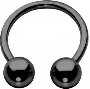 PVD Black Titanium Circular Barbells