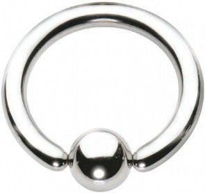 Polished Titanium BCR with Titanium Ball