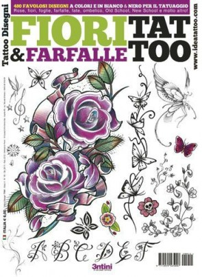 3ntini - Tattoo Flash Drawings ''Fiori & Farfalle''