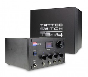 Tattoo Switch Power Supply With 4 Outputs - (TS4 Black)