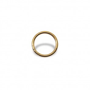 (13) Segment Ring Clicker Egaal - Stainless Steel Gold-coloured - Thickness 1 mm / Ø 8 mm