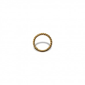 (19) Segment Ring Clicker Twisted Wire Gold - Gold plated - Thickness 1.2 mm / Ø 8 mm