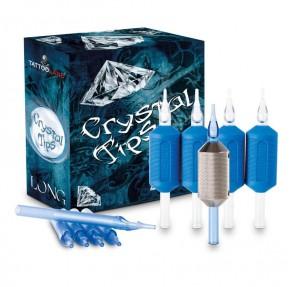 Crystal Long Tips - Diamond - Box of 50