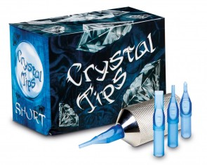 Crystal Short Tips - Diamond - Box of 50