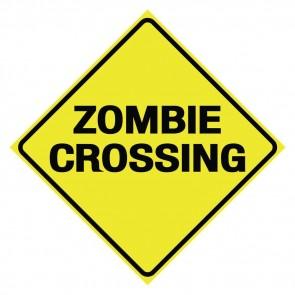 Zombie Crossing Sign - 30 cm
