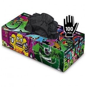 Graffiti Gloves - Nitrile - Black - Box of 100