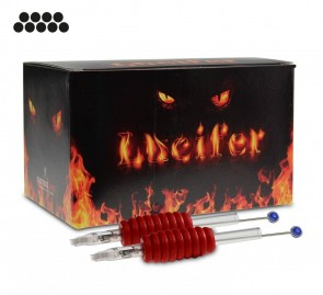 Lucifer Grips with Needles - 19 mm Rubber Grip - Magnum - Box of 25
