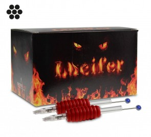 Lucifer Grips with Needles - 19 mm Rubber Grip - Round Liners - Box of 25