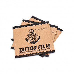 Sorry Mom - Protective Tattoo Film - Pre-Cut - Pack of 5
