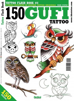 3ntini - Tattoo Flash Drawings ''150 Gufi''