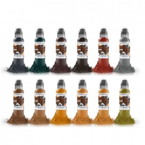 World Famous Ink - Earth Tone Set - 12 x 30 ml / 1 oz