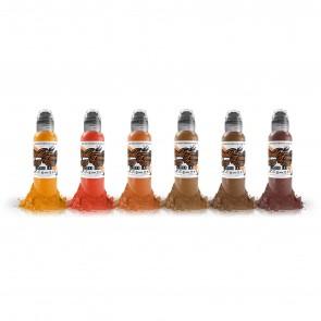 World Famous Ink - Maks Kornev's Brick Tone Set - 6 x 30 ml / 1 oz