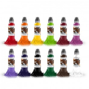 World Famous Ink - Primary Colour Set #1 - 12 x 30 ml / 1 oz