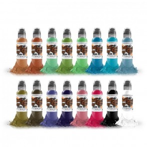 World Famous Ink - 16 Colour Set #1 - 16 x 30 ml / 1 oz
