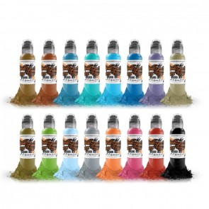 World Famous Ink - 16 Colour Set #2  - 16 x 30 ml / 1 oz