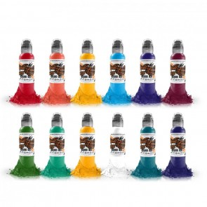 World Famous Ink - Primary Colour Set #3 - 12 x 30 ml / 1 oz