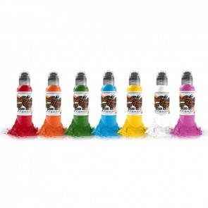 World Famous Ink - Simple 7 Colour Set - 7 x 15 ml / 0.5 oz