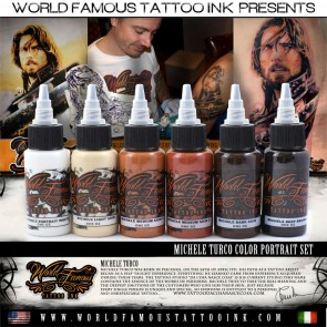 World Famous Ink - Michele Turco's Colour Portrait Set - 6 x 30 ml / 1 oz