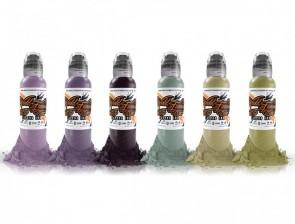 World Famous Ink - Maks Kornev's Zombie Colour Set - 6 x 30 ml / 1 oz