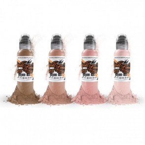 World Famous Ink - Maks Kornev's Pink Skin Tones - 4 x 30 ml / 1 oz