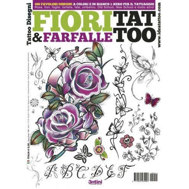 Fiori Old School.Tattooland 3ntini Tattoo Flash Drawings Fiori Farfalle
