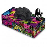 Graffiti Gloves - Latex - Noir - Boîte de 100
