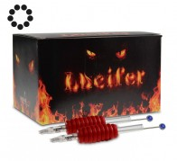 Lucifer Grips with Needles - 25 mm Rubber Grip - Round Shaders - Box of 20