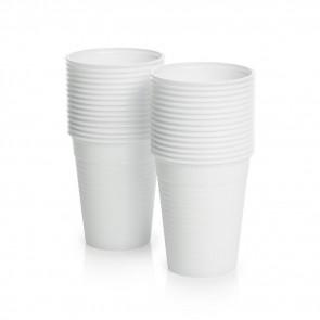 Verre Plastique Jetable - 180 ml / 6 oz - Blanc - Ensemble de 100