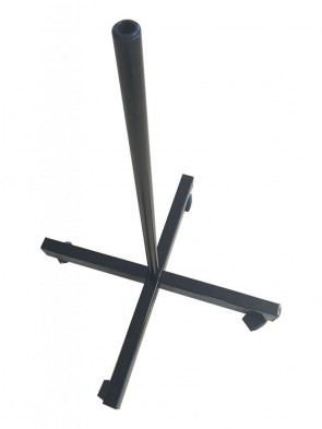 Rolling Stand For Magnifying Lamp - Black