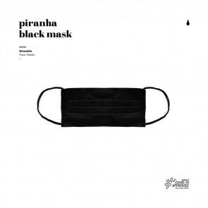 Piranha - Masque Facial Réutilisable - Black - Un Masque